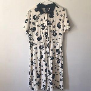 Off-white skull collar dress